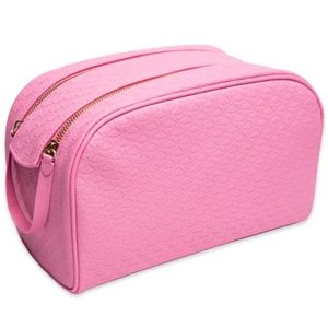 Pink Double Zip Makeup Bag
